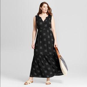 Universal Thread black floral maxi dress NWOT